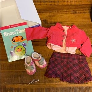 American Girl Petals & Plaid Outfit